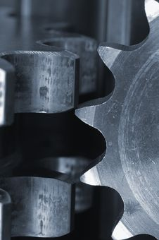 Gears In Extreme Close-up Royalty Free Stock Image