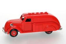 Free Strange Red Toy Tank Truck Stock Photo - 1842740