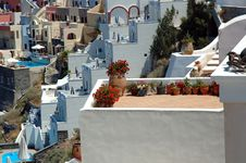 Free Patios On Santorini Royalty Free Stock Photo - 1843445