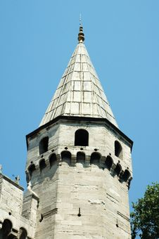 Free Octagonal Spired Tower In Istanbul Royalty Free Stock Photos - 1843698
