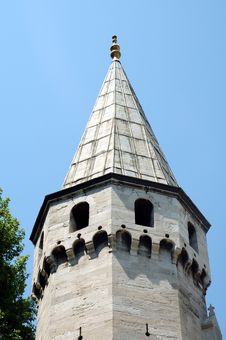 Free Octagonal Spired Tower In Istanbul Stock Image - 1843701