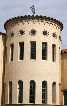 Round Mediterrarean Building Royalty Free Stock Image