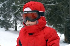Free Child Ski - Goggles Royalty Free Stock Photo - 1844295