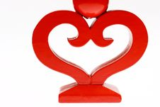 Heart Shape Candlestick Royalty Free Stock Photography