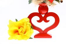 Free Man Made Flower And Heart Shape Candlestick Stock Image - 1845021