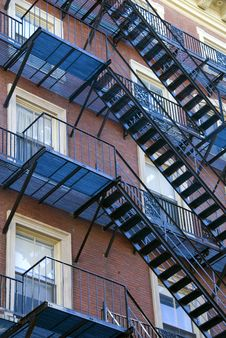 Free Iron Fire Escape Stock Image - 1845031
