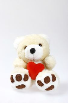 Free Teddy Bear With Heart And Space Stock Photography - 1845142