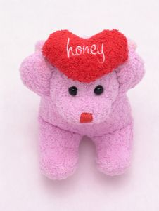 Free Honey Heart Bear 1 Stock Photo - 1845680