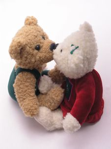 Free Kissing Bears 2 Royalty Free Stock Images - 1845699