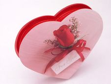Free Valentines Candy Box - Rose 1 Stock Photography - 1845732