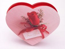Free Valentines Candy Box - Rose 3 Stock Image - 1845741