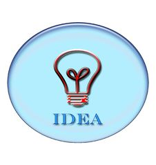 Free Idea Button Royalty Free Stock Image - 1846246