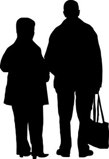 Free Couple With Bag Royalty Free Stock Photos - 1847798