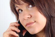 Free Phone Woman 8 Royalty Free Stock Photo - 1848575