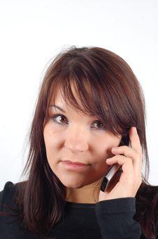 Free Phone Woman 8 Royalty Free Stock Image - 1848656