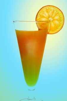 Free Orange Drink With Orange Slice On Side Royalty Free Stock Images - 1849269