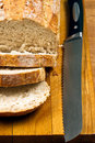 Free White Bread And Knife On Wooden Cutting Board Stock Photo - 18400610