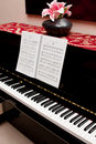 Free Piano And Song Book Stock Image - 18403021