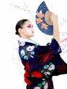 Free Japan Geisha Woman With Creative Make-up Stock Images - 18404964