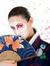 Free Japan Geisha Woman With Creative Make-up Stock Images - 18404974