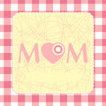 Free 80s Style Mothers Day Card. EPS 8 Stock Images - 18405894