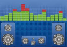 Free Banner Sound Level And Speakers Royalty Free Stock Photos - 18400258