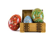 Easter Eggs In Box Stock Photo