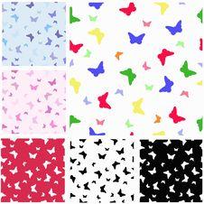 Seamless Pattern, Butterfly Stock Photo