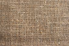 Free The Texture Of Burlap Stock Photography - 18401682