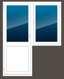 Free Plastic Window With A Door Royalty Free Stock Image - 18401716