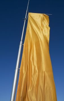 Free Yellow Flag Royalty Free Stock Photography - 18401727