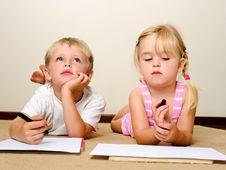 Free Crayon Children Royalty Free Stock Photo - 18402435