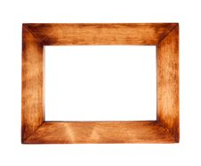 Free Wooden Black Frame With A Decorative Pattern Royalty Free Stock Image - 18402436