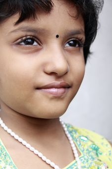 Portrait Of Indian  Little Girl Royalty Free Stock Image