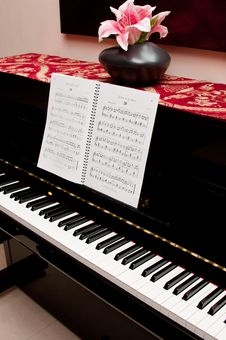 Piano And Song Book Stock Image