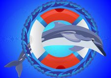 Free Lifebuoy And Dolphin Stock Images - 18403414