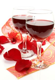 Free Wine And Roses Stock Photo - 18403560