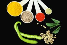 Free Measuring Spices Royalty Free Stock Photo - 18404135