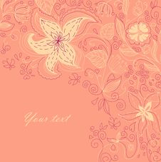 Free Floral Back Stock Photography - 18404432