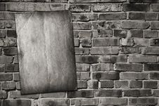 Free Paper On Brickwall Stock Photo - 18404590
