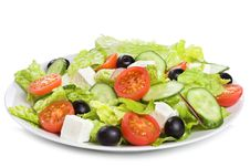 Free Salad With Vegetables And Greens Royalty Free Stock Photo - 18405645