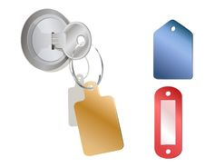 Free A Metal Key With Different Empty Tags Royalty Free Stock Photo - 18406515