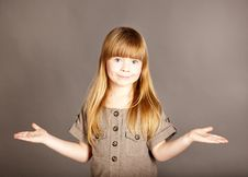 Free It S Simple-a Little Girl Spreading Her Arms Stock Photos - 18406633