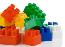 Free Colorful Plastic Toys Bricks Isolated On White Royalty Free Stock Photo - 18406905