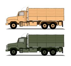 Free Army Trucks Stock Photo - 18408200