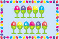 Free Happy Easter Frame Design Royalty Free Stock Images - 18415609