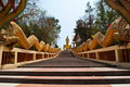 Free Long Stairs To Buddha Statue In Thailand. Stock Image - 18418641
