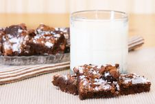 Free Brownies And Milk Stock Images - 18410614