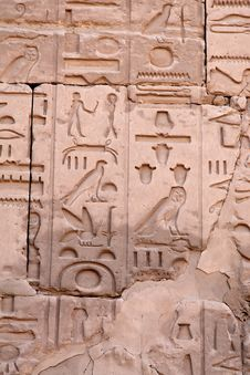 Free Hieroglyphs On The Wall Royalty Free Stock Photography - 18412047