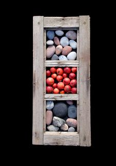 Free Window Frame With Stones And Apples Stock Images - 18412324